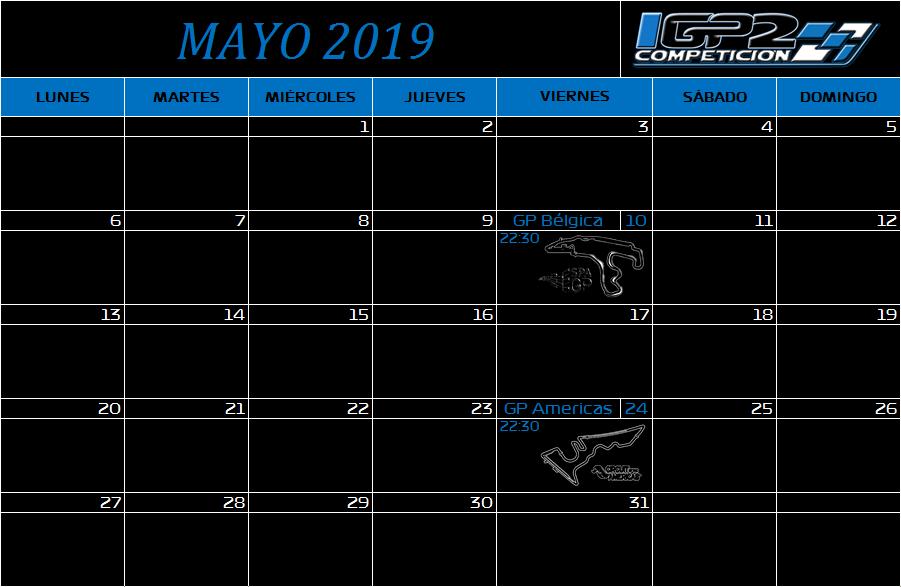 Calendario Mayo10