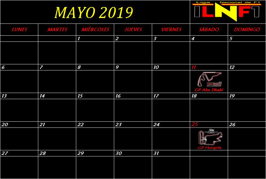 Calendario Mayo11
