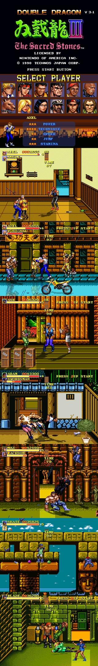 Double Dragon III (NES) v3.1 by Serrr. Kyqvcn10