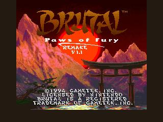 SoRR v5.1 - Brutal Paws of Fury Remake v1.1 by Serrr. Title10