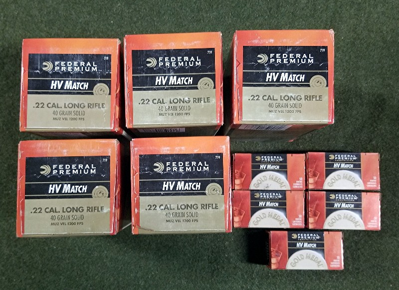 SOLD--FEDERAL Gold Medal HV Match 22LR Ammunition 2750 ROUNDS--SOLD Fed110