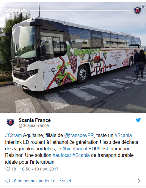 La région des Landes teste un carburant à base de raisin ! By DETOURS              Captu343