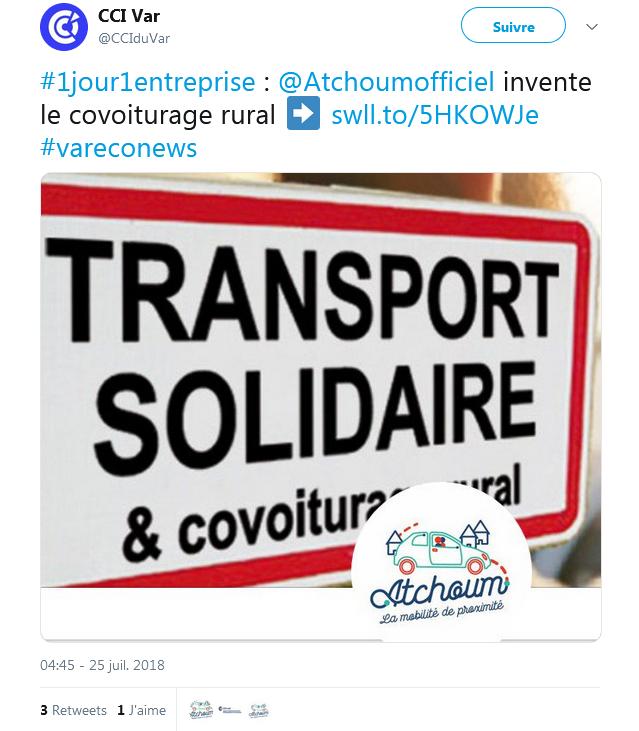 Avec Atchoum, les campagnes françaises ont enfin leur service de covoiturage ! (vidéo sur Bidfoly.com) Par Robin Ecoeur  Captu452