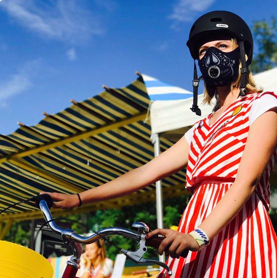 Enfin un masque anti-pollution efficace pour les cyclistes ! By DETOURS                     Captur30