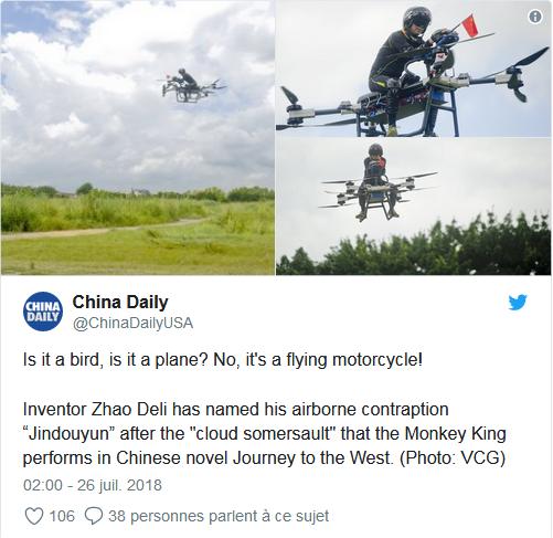 Toujours plus haut avec cette moto volante « made in China » ! By DETOURS Captur48