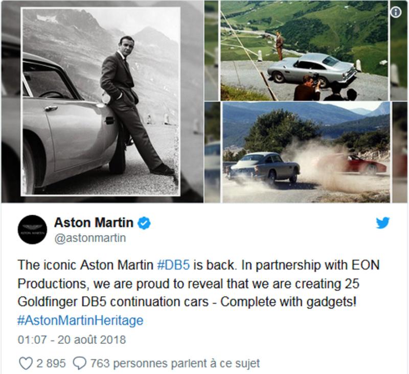 La mythique voiture de James Bond bientôt disponible à la vente ! (+Vidéo 4mn sur Bidfoly.com)By DETOURS Captur98