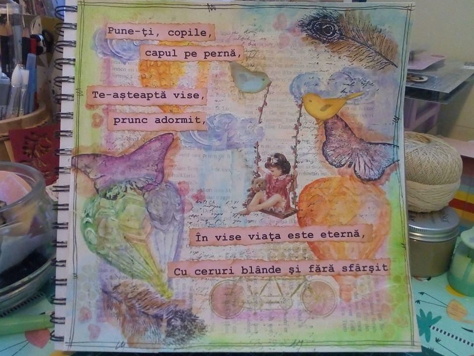 Provocare Art Journaling luna iunie - Despre copilarie (Popa Cornelia) Alina11