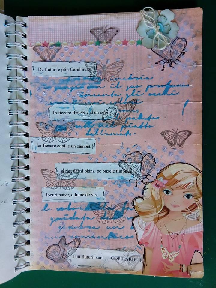 Provocare Art Journaling luna iunie - Despre copilarie (Popa Cornelia) Maria12