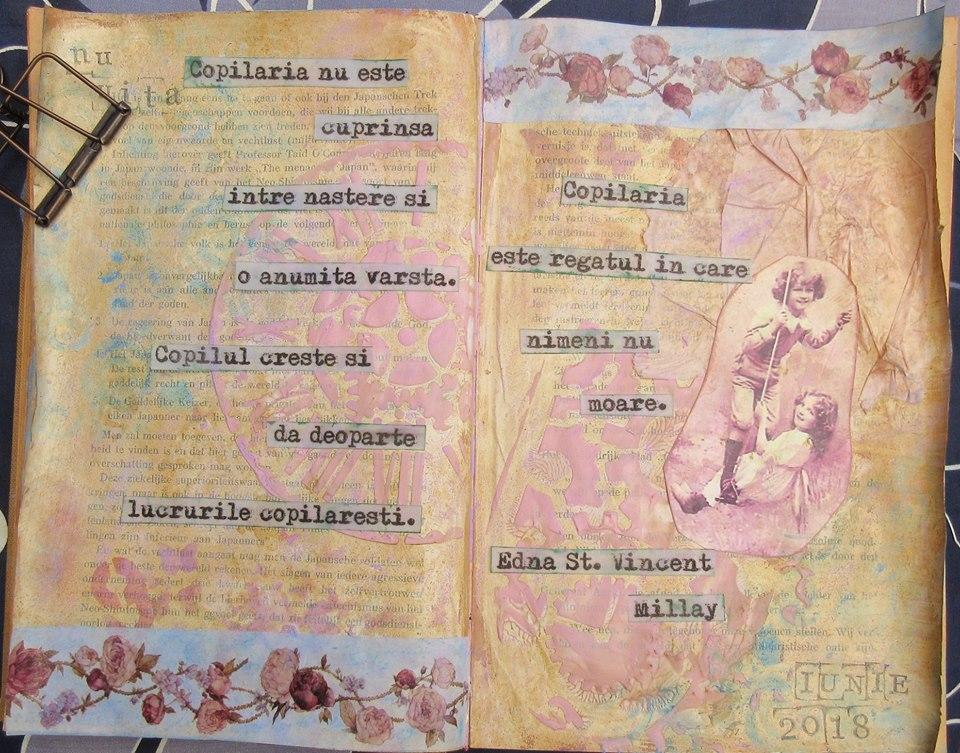 Provocare Art Journaling luna iunie - Despre copilarie (Popa Cornelia) Monica11