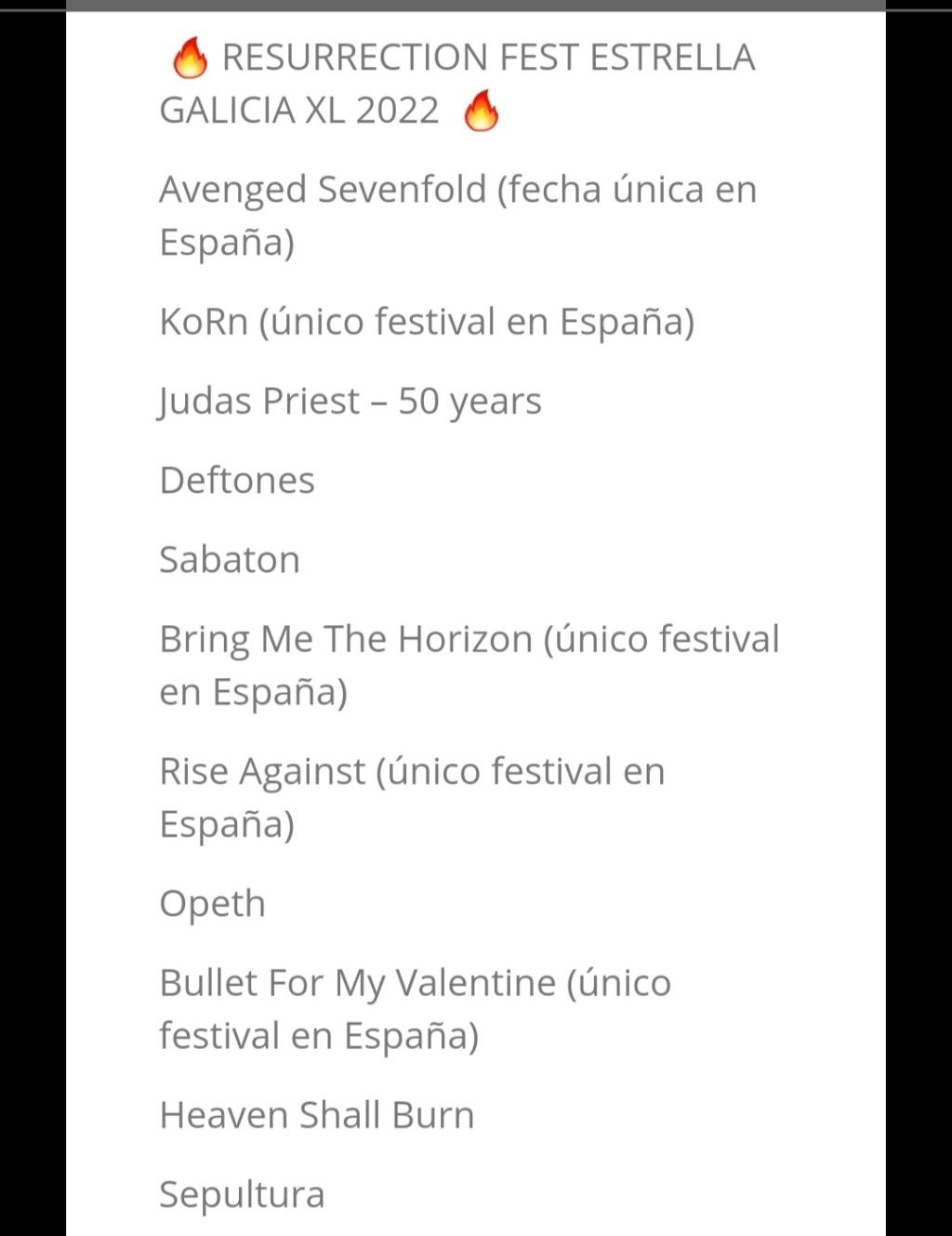 Mad Cool 2022: Metallica • Faith No More • St. Vincent • Deftones• Parcels • Phoebe Bridgers • Beabadoobee • Tom Misch y muchos más • ¡Vuelve el ruoc! - Página 7 Screen15