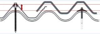 Pose d'une sur-toiture en bac acier sur du fibrociment (Amiantée) Vis10
