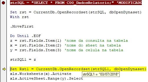 [Resolvido]Exportacao de Consulta para Excel com Erro 3078 Mzdulo10