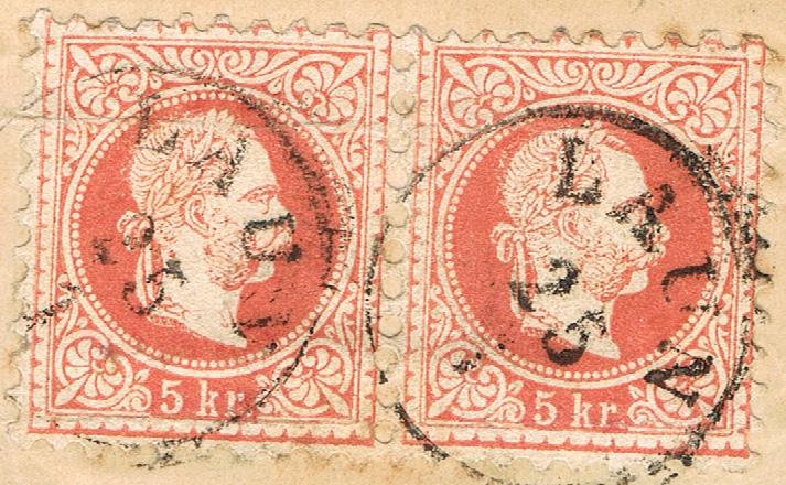 Freimarken-Ausgabe 1867 : Kopfbildnis Kaiser Franz Joseph I - Seite 19 B510