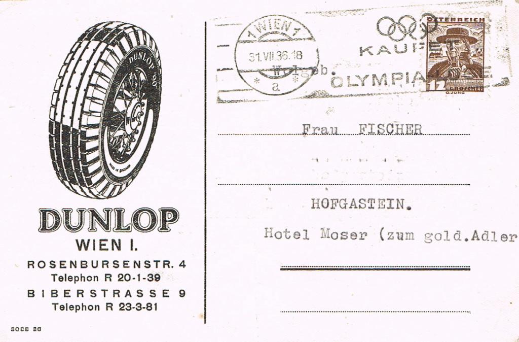 Werbeumschläge und -karten aus Österreich - Seite 6 Dunlop10