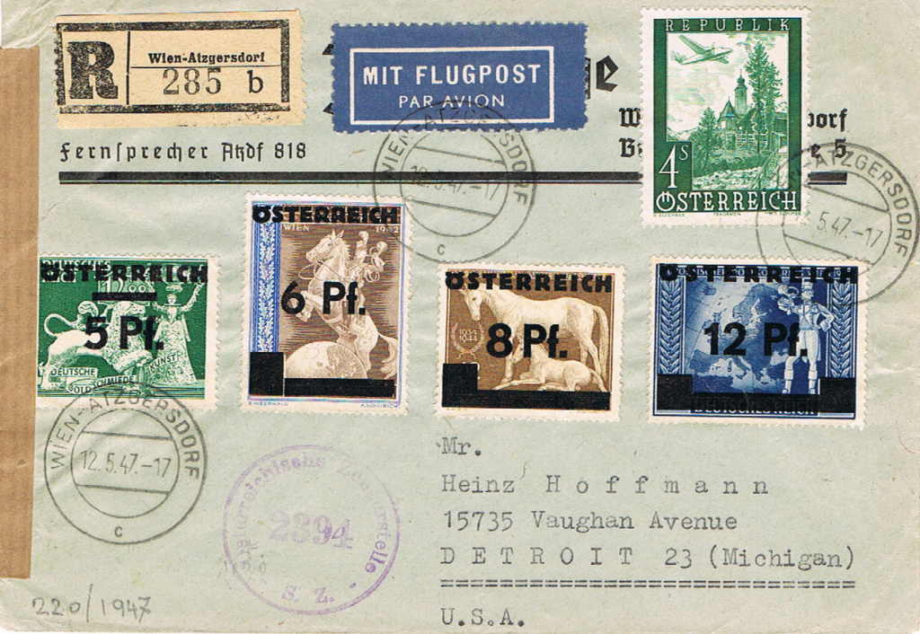 1945 - Sammlung Bedarfsbriefe Österreich ab 1945 - Seite 15 Flug10
