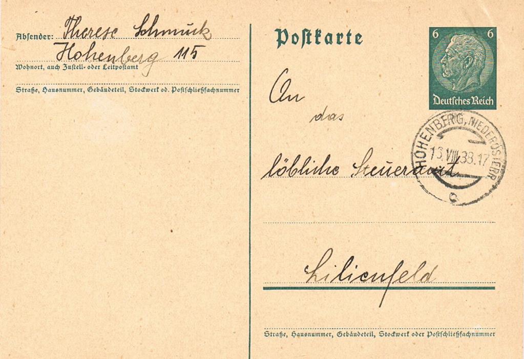 Österreich im III. Reich (Ostmark) Belege - Seite 17 Hohenb10