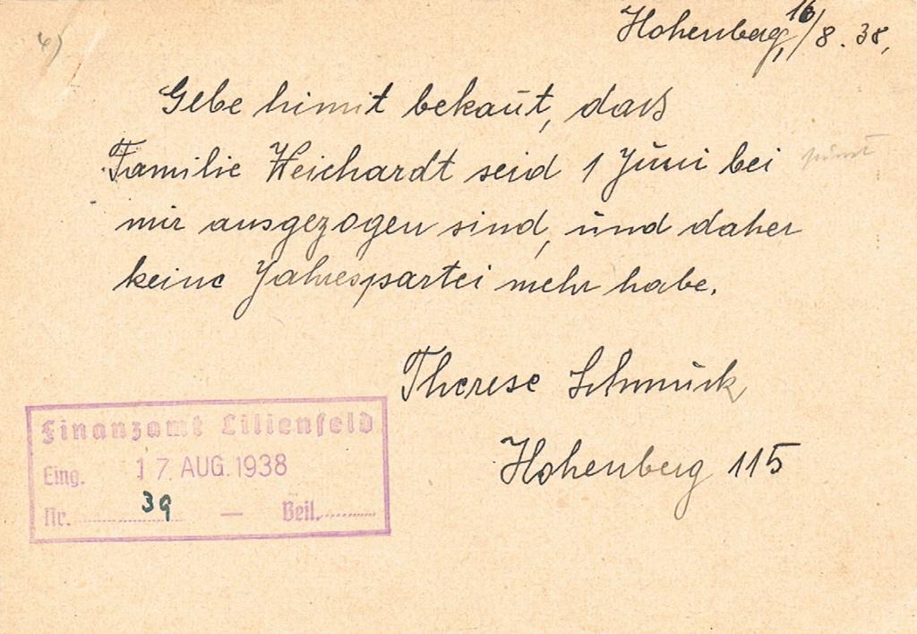 Österreich im III. Reich (Ostmark) Belege - Seite 17 Hohenb11