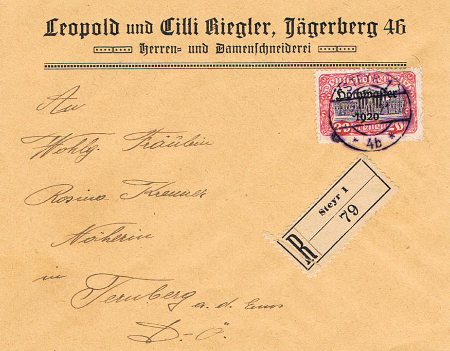 Inflation in Österreich - Belege - 1918 bis 1925 - Seite 20 Hw10