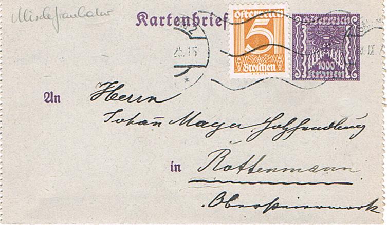 Inflation in Österreich - Belege - 1918 bis 1925 - Seite 18 Kr10