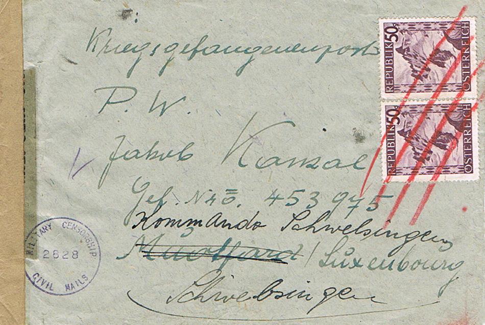 Kriegsgefangenenpost II. Weltkrieg (Österreich) Kr12