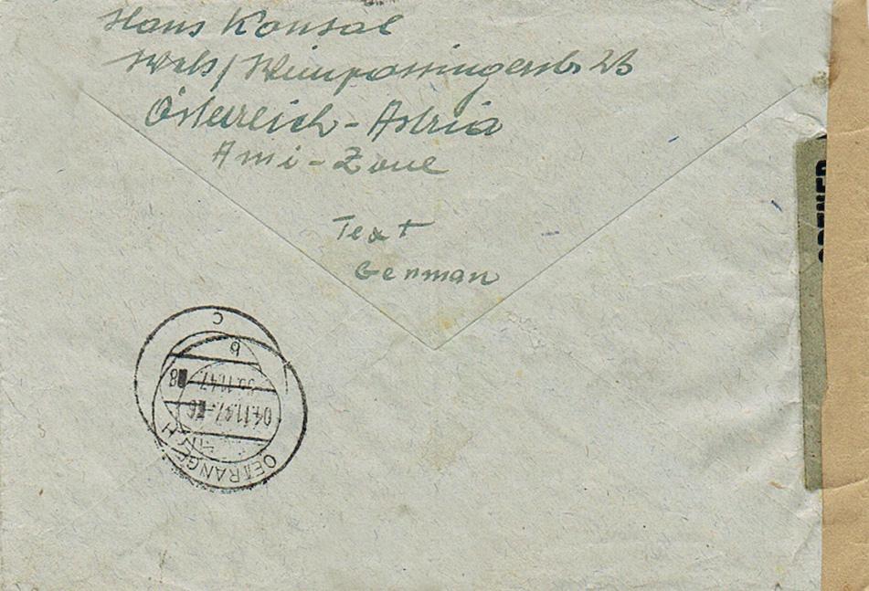 Kriegsgefangenenpost II. Weltkrieg (Österreich) Krh10