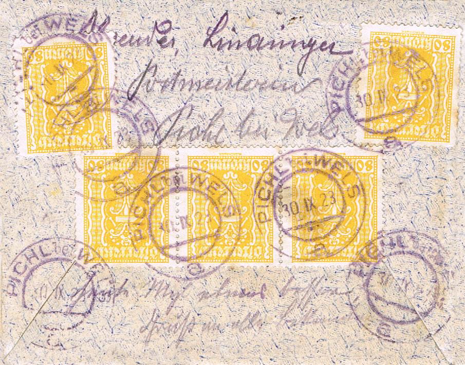 Inflation in Österreich - Belege - 1918 bis 1925 - Seite 16 Pa10
