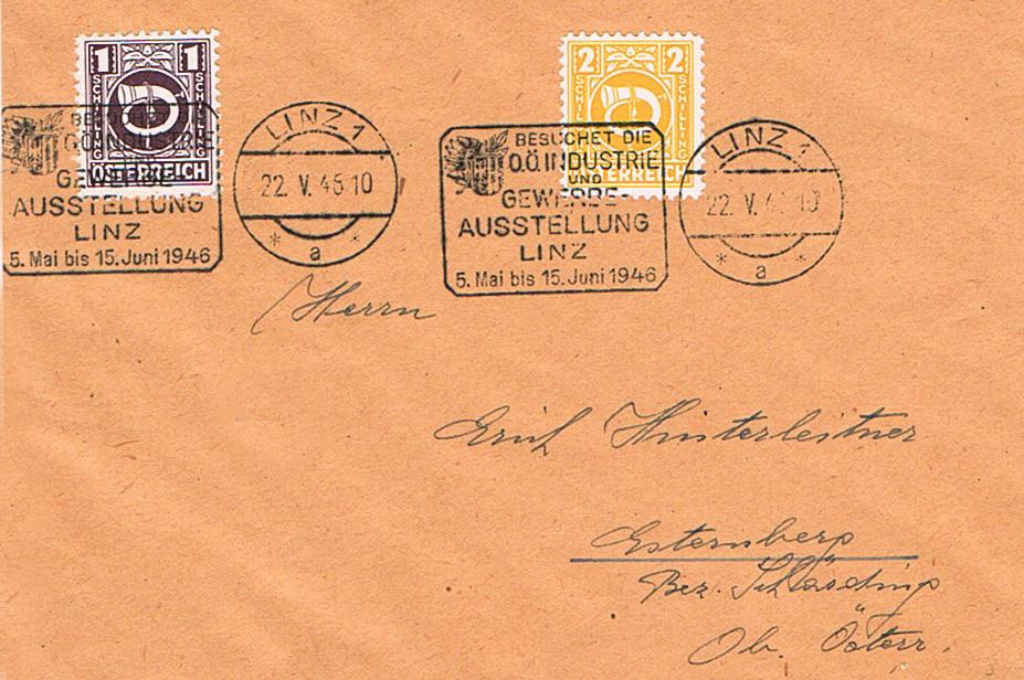 Posthornzeichnung  -  ANK 697-713  -  Belege - Seite 4 Ph11