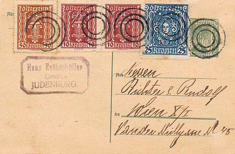 Inflation in Österreich - Belege - 1918 bis 1925 - Seite 20 Pk13