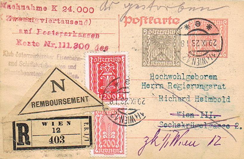 Inflation in Österreich - Belege - 1918 bis 1925 - Seite 20 Pk14