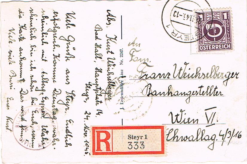 Posthornzeichnung  -  ANK 697-713  -  Belege - Seite 4 Post10