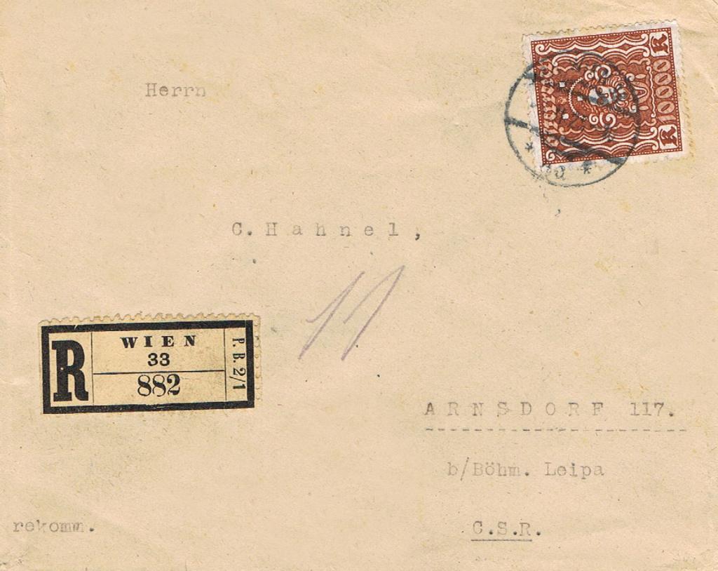 Inflation in Österreich - Belege - 1918 bis 1925 - Seite 17 R110