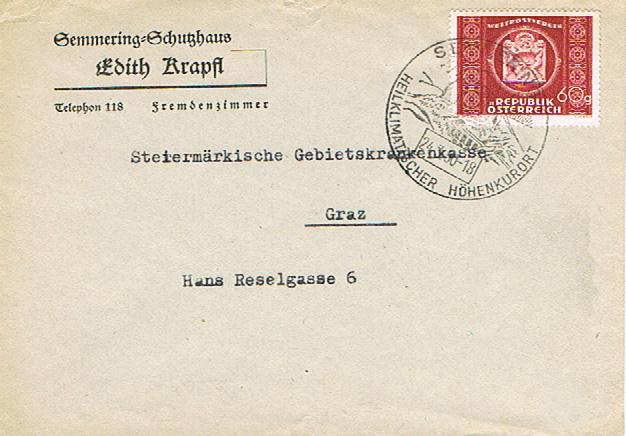 Sammlung Bedarfsbriefe Österreich ab 1945 - Seite 12 Se10