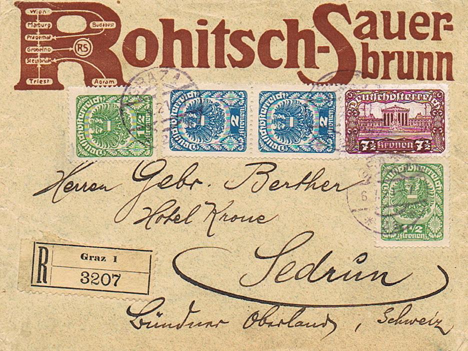 Inflation in Österreich - Belege - 1918 bis 1925 - Seite 20 Sedrun10