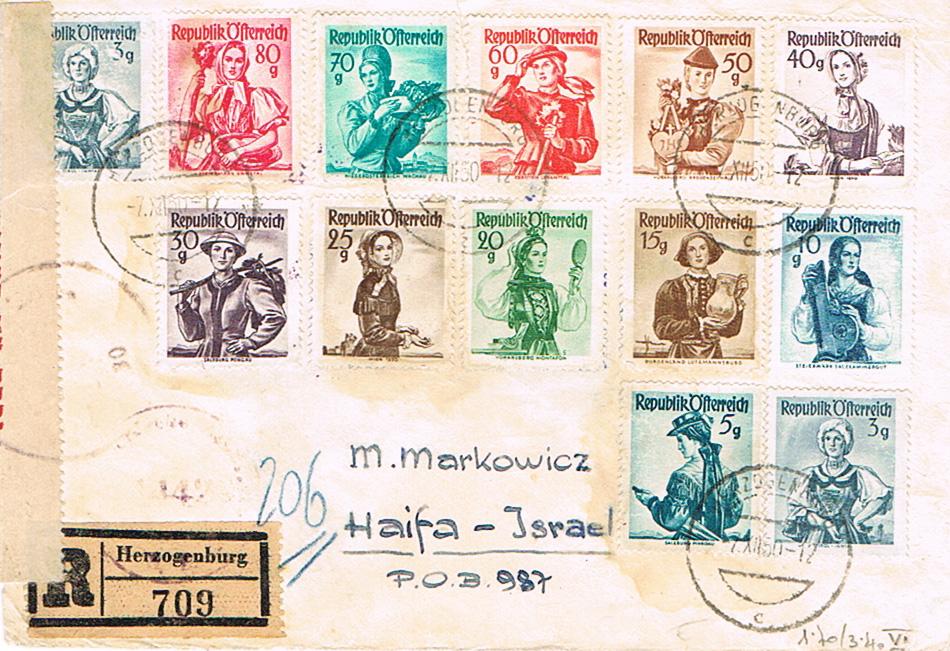 Trachtenserien ANK 887 - 923 und 1052 - 1072 Belege - Seite 12 Tr12