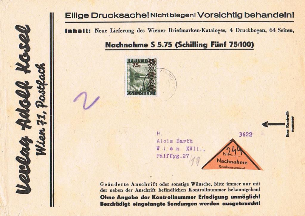 Sammlung Bedarfsbriefe Österreich ab 1945 - Seite 11 Z110