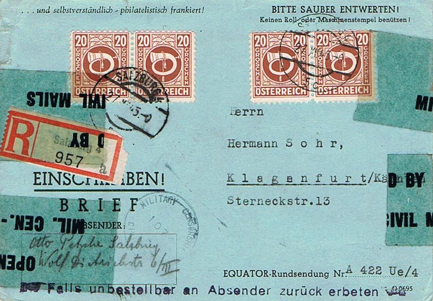 Posthornzeichnung  -  ANK 697-713  -  Belege - Seite 4 Ze11