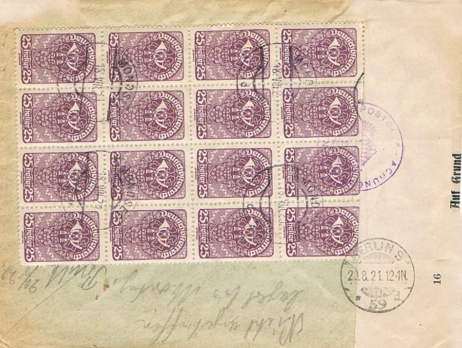Inflation in Österreich - Belege - 1918 bis 1925 - Seite 19 Zs13