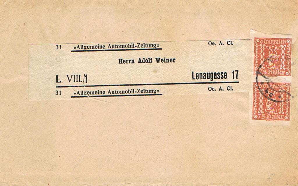 Inflation in Österreich - Belege - 1918 bis 1925 - Seite 20 Zs16