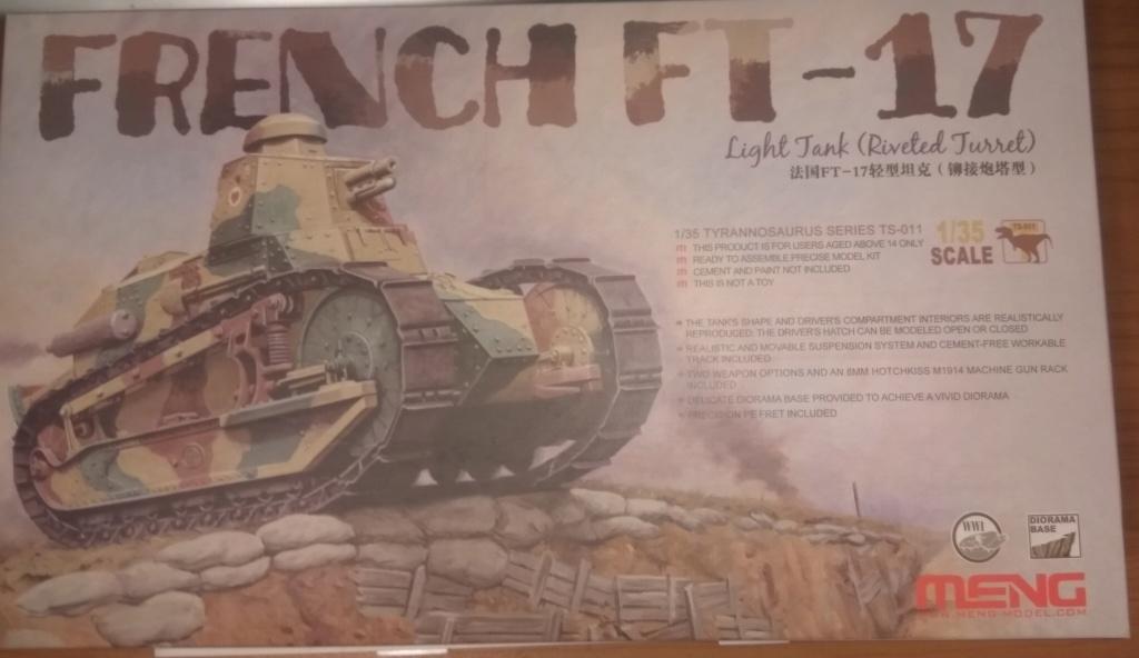обзор лёгкий танк РЕНО FT-17 1:35 MENG TS-011 0110