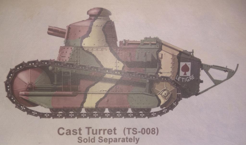 обзор лёгкий танк РЕНО FT-17 1:35 MENG TS-011 0310