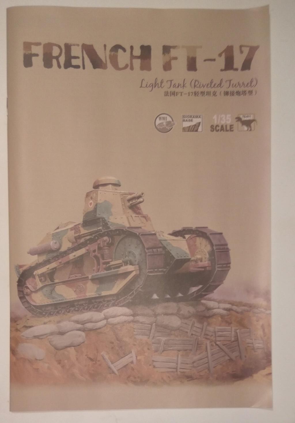 обзор лёгкий танк РЕНО FT-17 1:35 MENG TS-011 0410