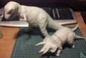 обзор тираннозавр и трицератопс 1:35 от TAMIA №60203 и №60201  1412