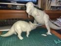 обзор тираннозавр и трицератопс 1:35 от TAMIA №60203 и №60201  1512