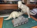 обзор тираннозавр и трицератопс 1:35 от TAMIA №60203 и №60201  1612