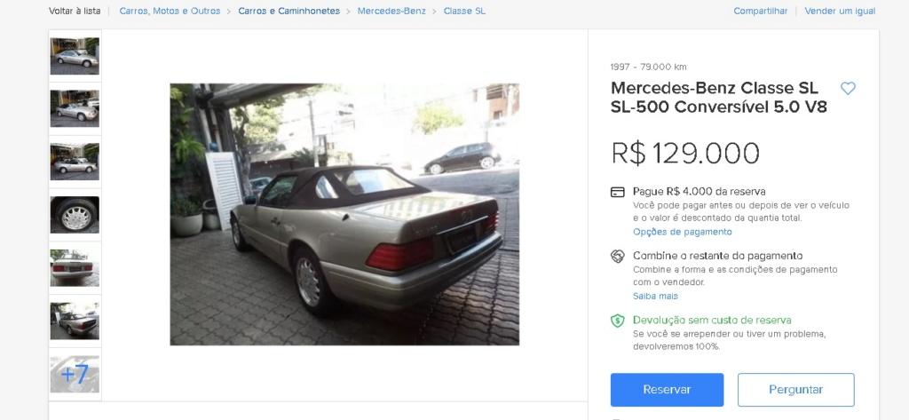R129 - SL 500 1997 - R$ 129.000,00 Sl10