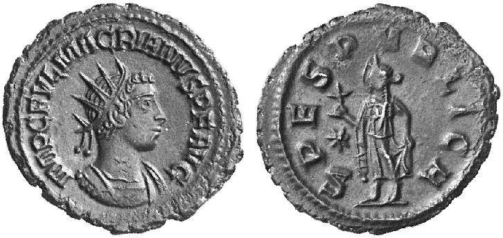 Antoniniano de Macriano - SPES PVBLICA - Antioquia 11434610