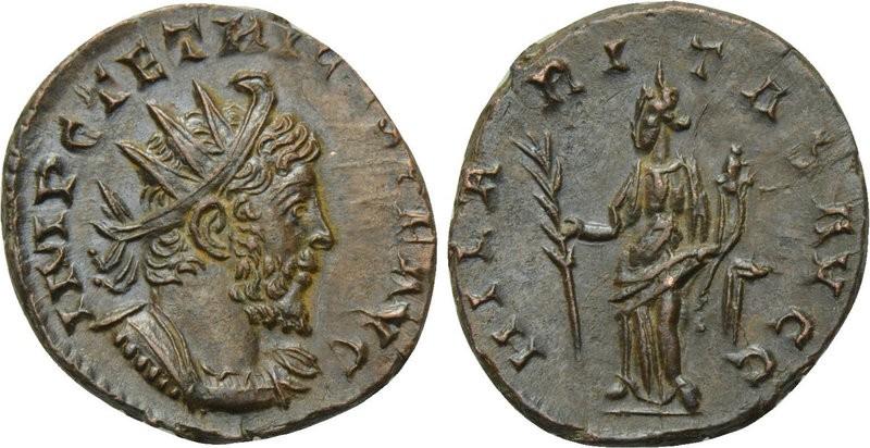 Antoniniano de Tetrico I. HILARITAS AVGG . Hilaritas. Colonia. 21144510