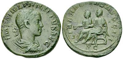 Sestercio Filipo II - LIBERALITAS AVGG. III - S C 24206910