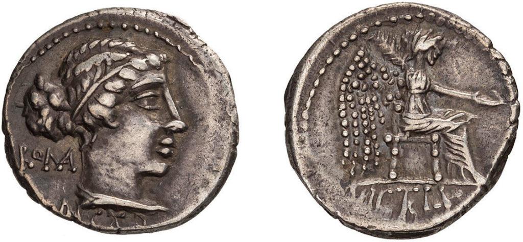 Denario de la gens Porcia. VICTRIX. Victoria sedente a dcha. Roma. 49079111