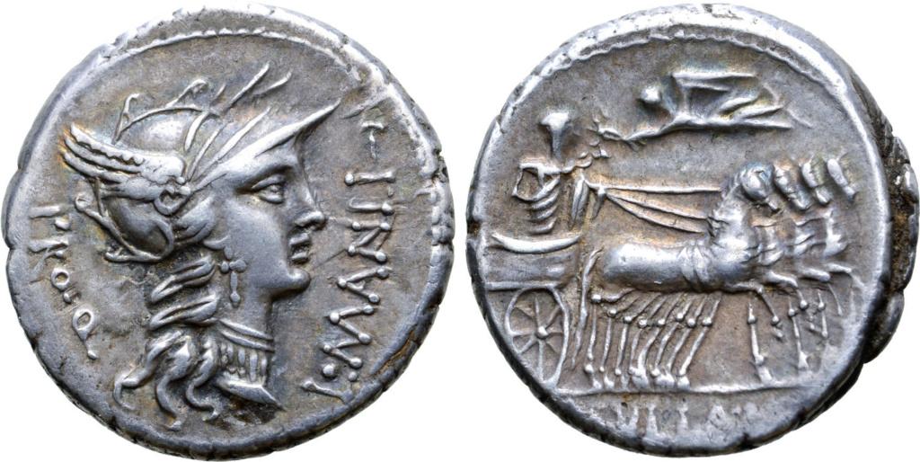 Denario de la gens Cornelia. L. SVLLA. IMP. L. Conelio Sila en una cuádriga al paso a dcha. Roma. 61681610